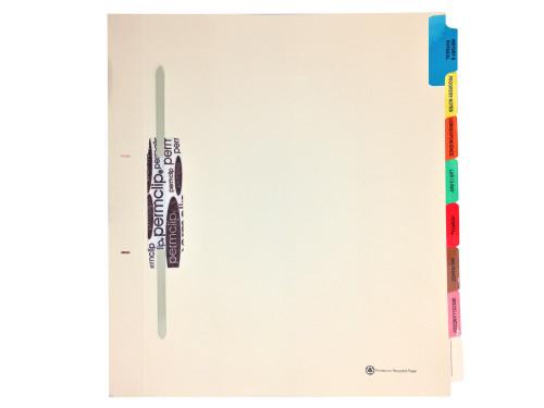 Medical Arts Press Match Fileback Dividers with 8 Index Tabs- Manila, Side Tab (20 Sets/Box)