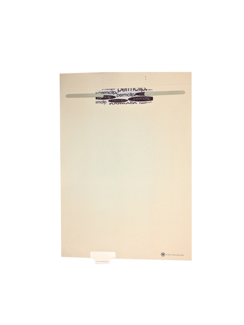 Medical Arts Press Match Write-On End Tab Fileback Dividers- Blank, Tab Position 3- Clear (50/Pkg)