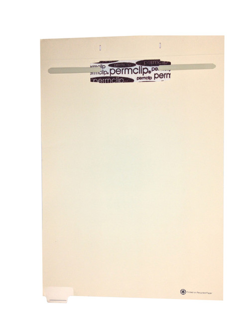 Medical Arts Press Match Write-On End Tab Fileback Dividers- Blank, Tab Position 1- Clear (50/Pkg)