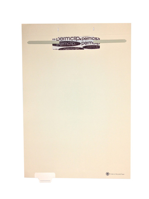 Medical Arts Press Match Write-On End Tab Fileback Dividers- Blank, Tab Position 2- Clear (50/Pkg)