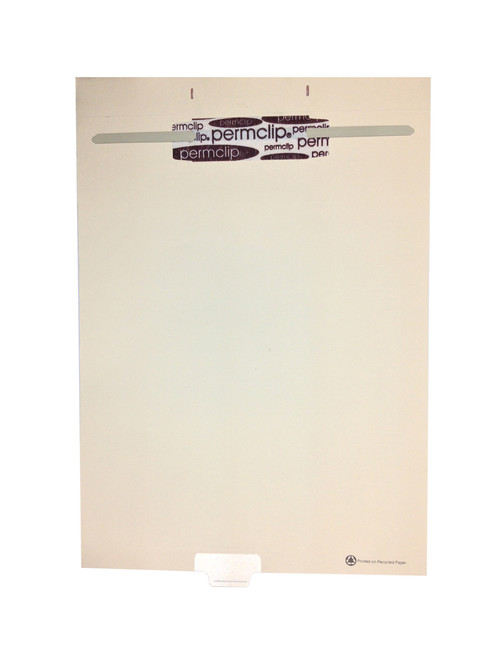 Medical Arts Press Match Write-On End Tab Fileback Dividers- Blank, Tab Position 4- Clear (50/Pkg)