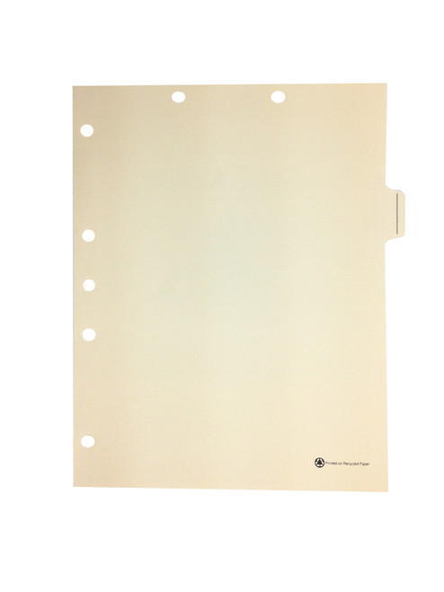 Medical Arts Press Match Write-On Side Tab Chart Dividers- Blank with Printed Guidelines, Tab Position 6- Clear (100/Box)