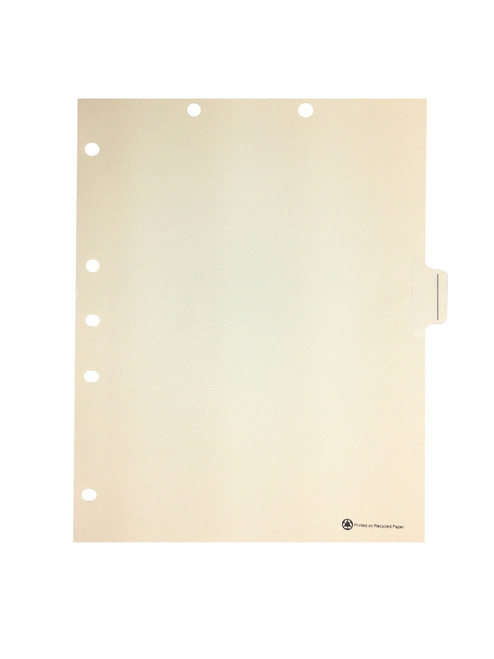 Medical Arts Press Match Write-On Side Tab Chart Dividers- Blank with Printed Guidelines, Tab Position 5- Clear (100/Box)