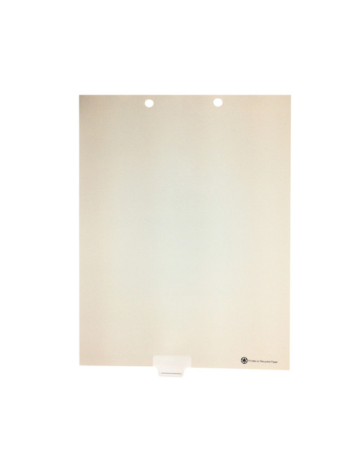 Medical Arts Press Match Write-On Bottom Tab Chart Dividers- Blank with Printed Guidelines, Tab Position 4- Clear (100/Box)