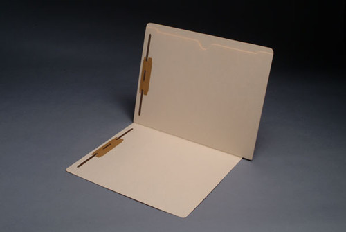 14 Pt. Manila End Tab Folder with Full Open Top Back Pocket - Letter Size - Full Cut End Tab - Fasteners in Positions 1 & 3 - 50/Box