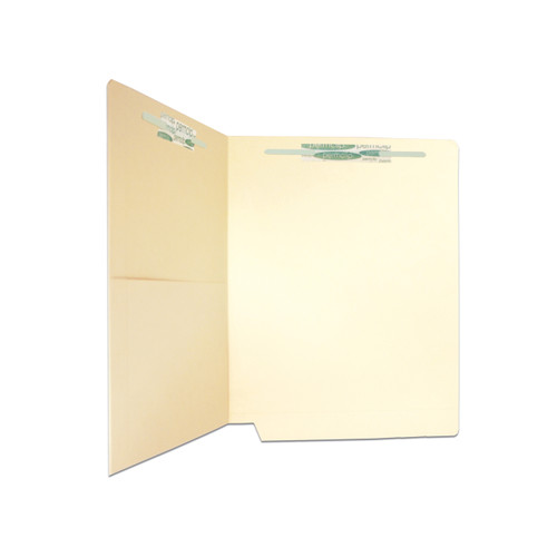 Medical Arts Press Match Manila End Tab Pocket Folders with 2 Permclip Fasteners- 14pt (50/Box)