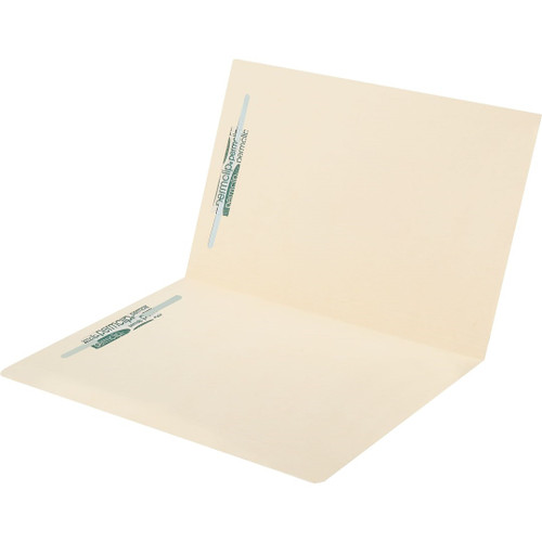Medical Arts Press Match Top Tab Manila File Folders with 2 Permclip Fasteners- Letter Size, 14pt (50/Box)