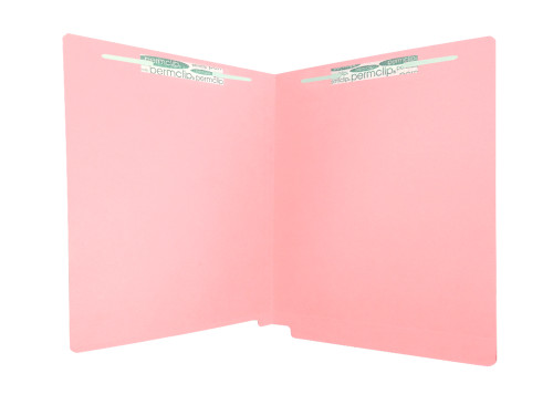 Medical Arts Press Match Colored End Tab File Folders with 2 Permclip Fasteners- Pink, Letter Size, 11pt (50/Box)