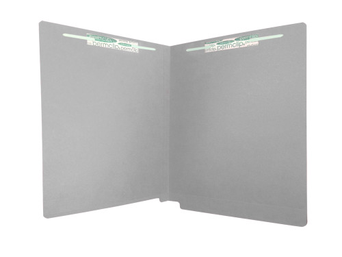 Medical Arts Press Match Colored End Tab File Folders with 2 Permclip Fasteners- Dark Gray, Letter Size, 11pt (250/Carton)