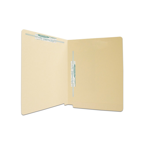 Medical Arts Press Match 11pt Full Cut End Tab File Folders with 2 Permclip Fasteners in Position 3 and 5- Letter Size, Mylar Spine (50/Box)