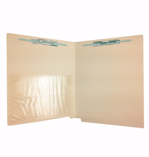 Medical Arts Press Match End Tab Folders with Poly Pocket and 2 Permclip Fasteners (50/Box)