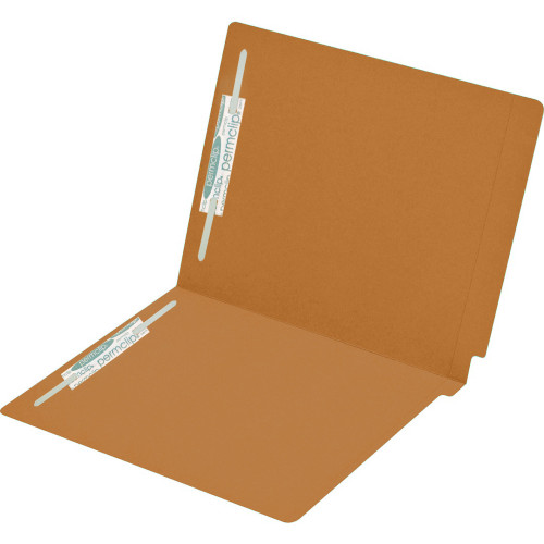 Medical Arts Press Match Colored End Tab File Folders with 2 Permclip Fasteners- Dark Orange, Letter Size, 15pt (50/Box)