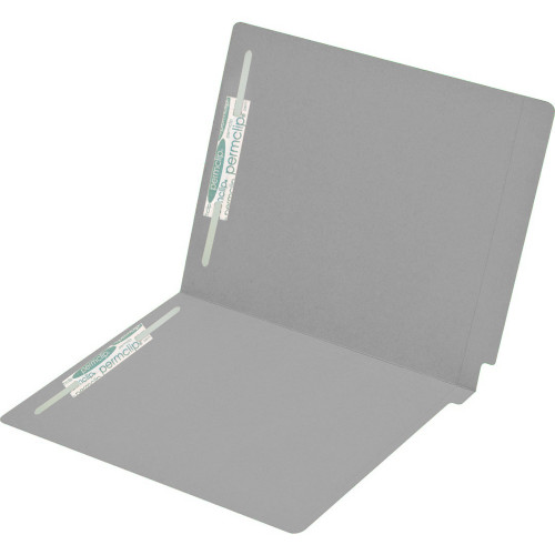 Medical Arts Press Match Colored End Tab File Folders with 2 Permclip Fasteners- Dark Gray, Letter Size, 15pt (50/Box)