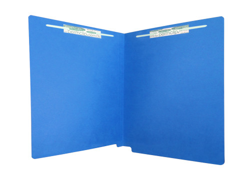 Medical Arts Press Match Economy Colored Single Ply End Tab Folders with 2 Permclip Fasteners- Dark Blue, 11pt (50/Box) (55130MAP)