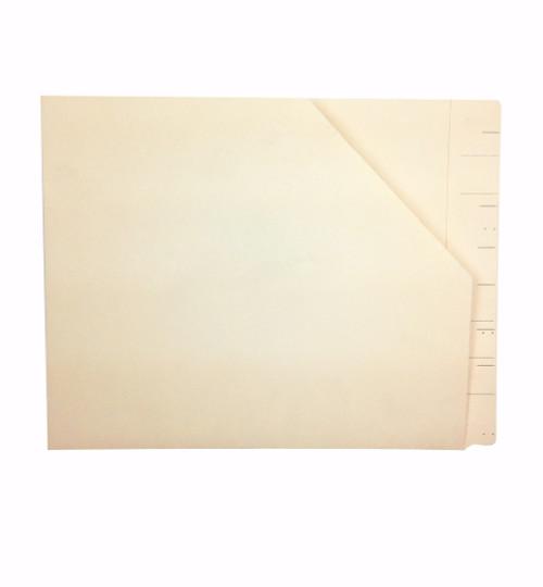 Medical Arts Press Match WaterShed Cutless End Tab Diagonal Cut File Pockets- Manila (50/Box) (23939R) (64767R)