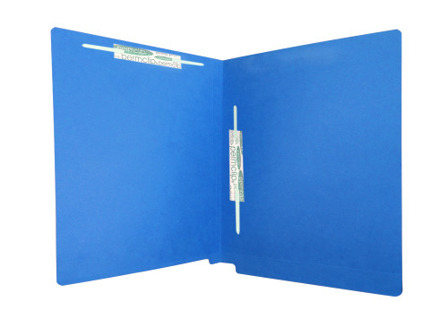 Medical Arts Press Match Colored End Tab File Folders with 2 Permclip Fasteners in Position 3 and 5- Dark Blue, Letter Size, 11pt (50/Box)