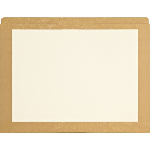 Medical Arts Press Match End Tab Colored File Pockets- Tan Border, Letter Size (100/Box)