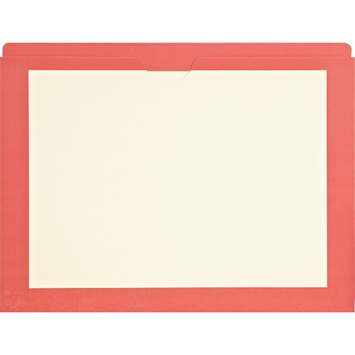 Medical Arts Press Match End Tab Colored File Pockets- Red Border, Letter Size (100/Box)