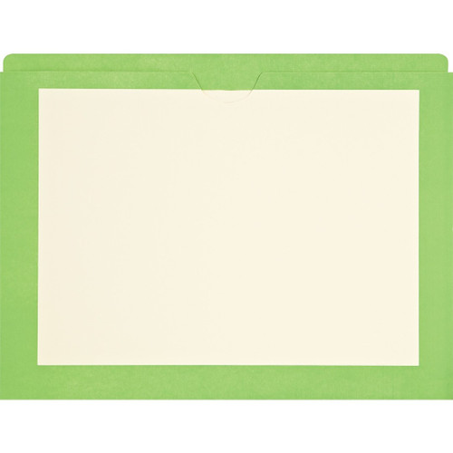 Medical Arts Press Match End Tab Colored File Pockets- Green Border, Letter Size (100/Box)