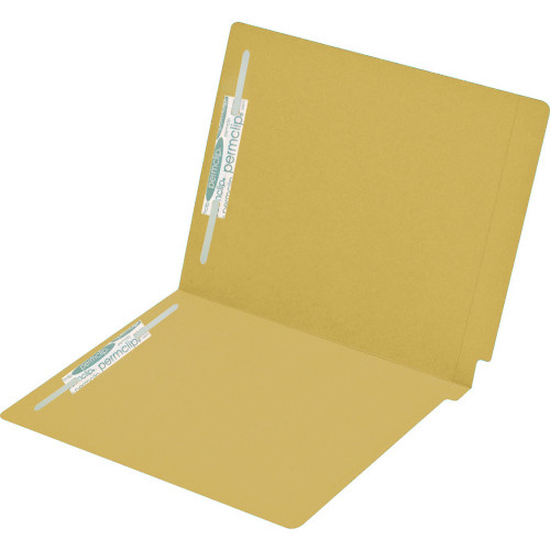 Medical Arts Press Match Colored End Tab File Folders with 2 Permclip Fasteners- Goldenrod, Letter Size, 15pt (50/Box)