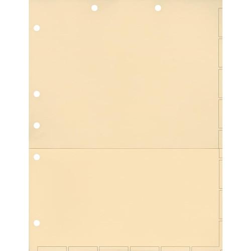 Medical Arts Press Match Chart Divider Sheets with Pocket- Manila, Small Tab (50/Pkg) (52362)