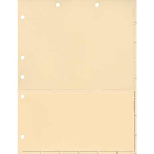 Medical Arts Press Match Chart Divider Sheets with Pocket- Manila, Small Tab (50/Pkg) (52362)
