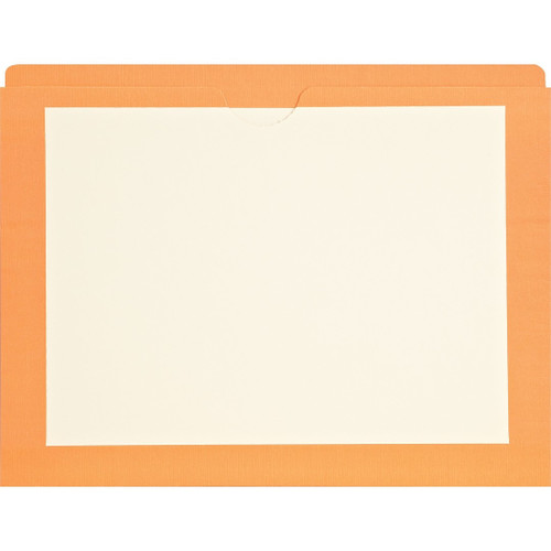 Medical Arts Press Match End Tab Colored File Pockets- Orange Border, Letter Size (100/Box)