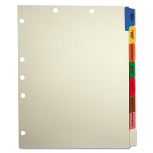 Medical Patient Chart Index Divider Sets -  Side Tab -  8 Pre-Printed Medical Tabs -  40 Sets/box
