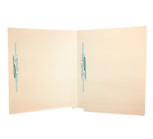 Medical Arts Press Match Full Cut Reinforced End Tab File Folders with 2 Permclip Fasteners in Position 5 and 7- 14pt (50/Box)