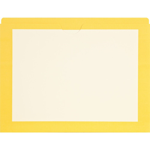 Medical Arts Press Match End Tab Colored File Pockets- Yellow Border, Letter Size (100/Box)