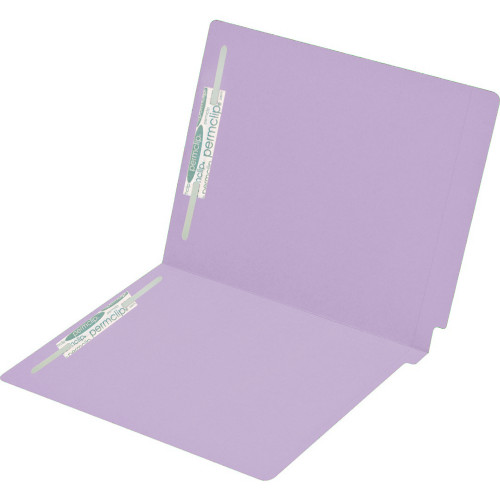 Medical Arts Press Match Colored End Tab File Folders with 2 Permclip Fasteners- Lavender, Letter Size, 15pt (250/Carton)