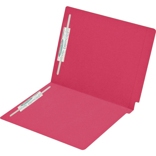 Medical Arts Press Match Colored End Tab File Folders with 2 Permclip Fasteners- Red, Letter Size, 15pt (250/Carton)