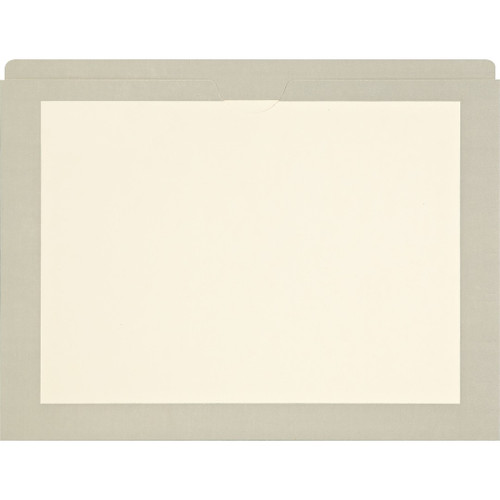 Medical Arts Press Match End Tab Colored File Pockets- Gray Border, Letter Size (100/Box)