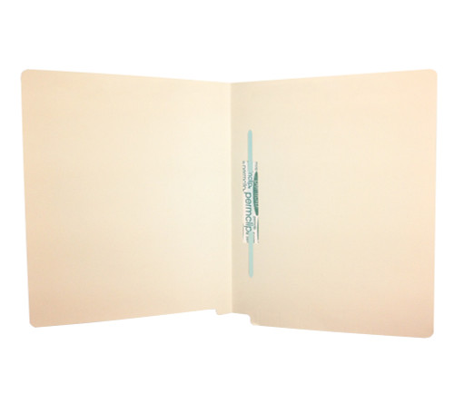 Medical Arts Press Match Economy End Tab Folders with Permclip Fastener in Position 5- Manila, 11pt (50/Box)