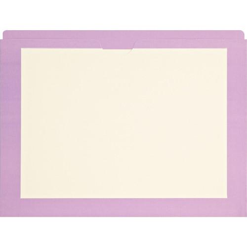 Medical Arts Press Match End Tab Colored File Pockets- Violet Border, Letter Size (100/Box)