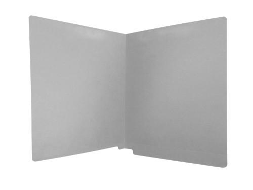 Medical Arts Press Match Colored Reinforced End Tab Folders- Dark Gray, Letter Size, 11pt (100/Box)