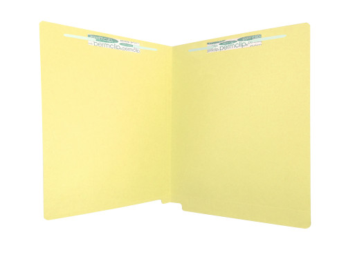 Medical Arts Press Match Colored End Tab File Folders with 2 Permclip Fasteners- Canary Yellow, Letter Size, 11pt (250/Carton)