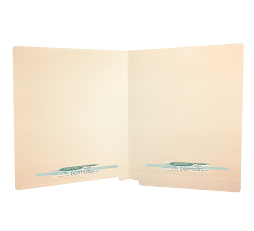 Medical Arts Press Match Full Cut End Tab File Folders with 2 Permclip Fasteners in Position 2 and 4- 14pt (50/Box)
