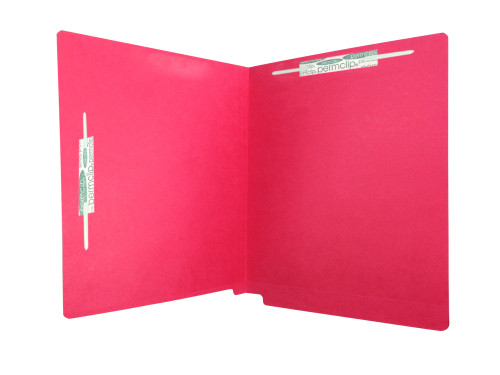Medical Arts Press Match Colored End Tab File Folders with 2 Permclip Fasteners in Position 1 and 7- Red, Letter Size, 11pt (250/Carton)