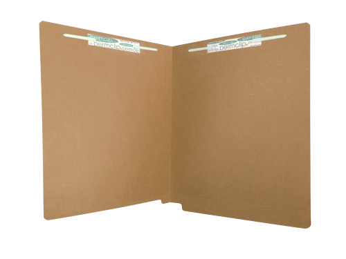 Medical Arts Press Match Colored End Tab File Folders with 2 Permclip Fasteners- Brown, Letter Size, 11pt (50/Box)