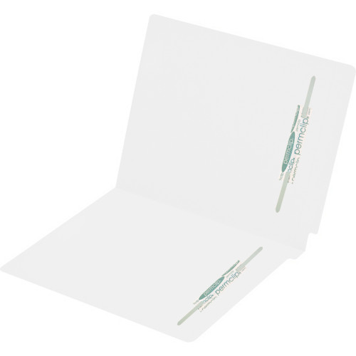 Medical Arts Press Match Colored End Tab File Folders with 2 Permclip Fasteners in Position 2 and 4- White, Letter Size, 15pt (50/Box)