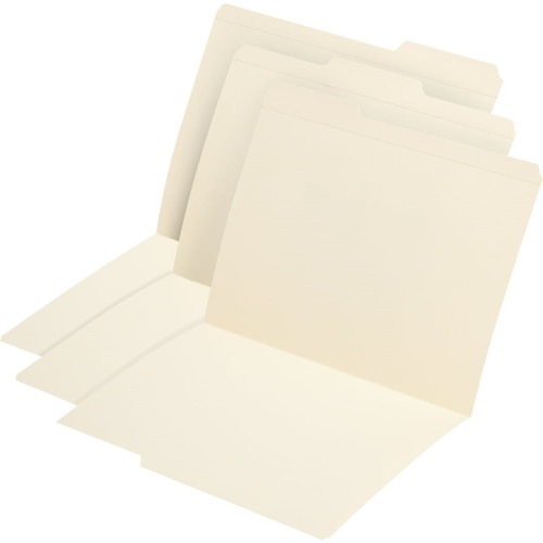 Medical Arts Press Match Top Tab Manila File Folders- Letter Size, Assorted, 1/3 Cut (100/Box)