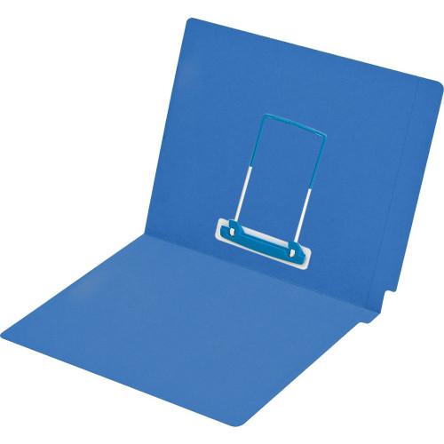 Medical Arts Press Match Colored End Tab File Folders with Medi Clip Fastener in Position 5- Dark Blue, Letter Size, 15pt (50/Box)