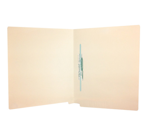 Medical Arts Press Match 18pt Full Cut End Tab File Folders with 1 Permclip Fastener in Position 5- Letter Size, Mylar Spine (50/Box)