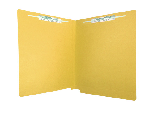 Medical Arts Press Match Colored End Tab File Folders with 2 Permclip Fasteners- Goldenrod, Letter Size, 11pt (250/Carton)