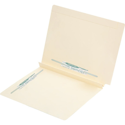 Medical Arts Press Match Manila End Tab Expansion Folders with 2 Permclip Fasteners in Position 3 and 5- 14pt (50/Box)