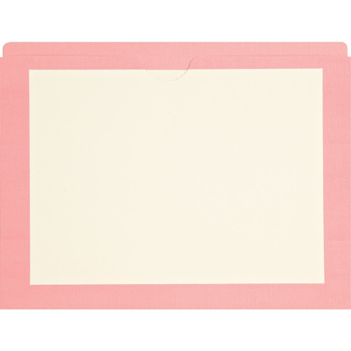Medical Arts Press Match End Tab Colored File Pockets- Pink Border, Letter Size (100/Box)