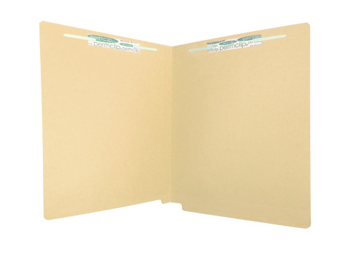 Medical Arts Press Match Colored End Tab File Folders with 2 Permclip Fasteners- Tan, Letter Size, 11pt (50/Box)