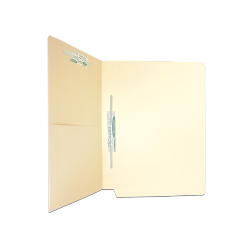 Medical Arts Press Match Manila End Tab Pocket Folders with 2 Permclip Fasteners in Position 3 and 5- 11pt (50/Box)