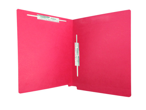 Medical Arts Press Match Colored End Tab File Folders with 2 Permclip Fasteners in Position 3 and 5- Red, Letter Size, 11pt (50/Box)